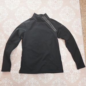 Womens Therma-Fit Black Side Zip Pullover Size L